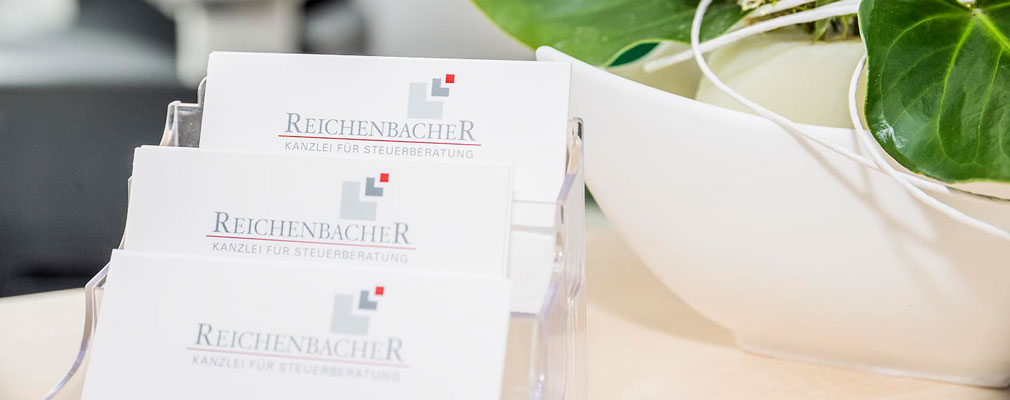 Steuerkanzlei Cornelia Reichenbacher in Pfinztal • Visitenkarten Steuerkanzlei Reichenbacher